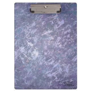 Feisty Metallic Purple Abstract Splatter Clipboard