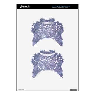 Feisty Metallic Purple Abstract Splatter Xbox 360 Controller Skin