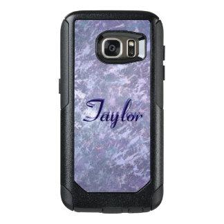 Feisty Purple Silver Metallic Splatter OtterBox Samsung Galaxy S7 Case