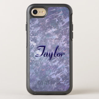 Feisty Tech | Name Purple Lavender Lilac Splatter OtterBox Symmetry iPhone 8/7 Case