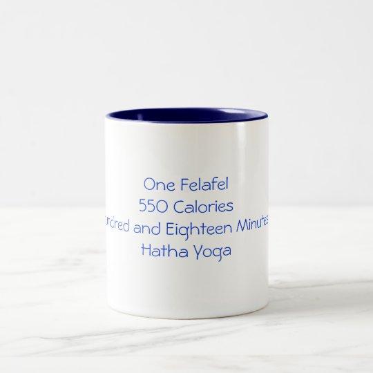 Felafel Vs Yoga Two-Tone Coffee Mug