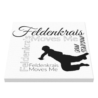 Feldenkrais Moves Me Canvas | Black & White