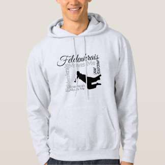 Feldenkrais Moves Me Hoodie   Black & White