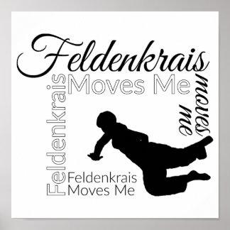 Feldenkrais Moves Me Poster | Black & White