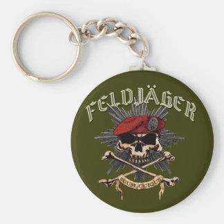 Feldjager Totenkopf Schlüsselring Basic Round Button Keychain