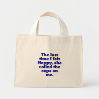 Feleling feliz (femenino) bolsa tela pequeña