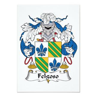 Felgoso Family Crest Personalized Invitation