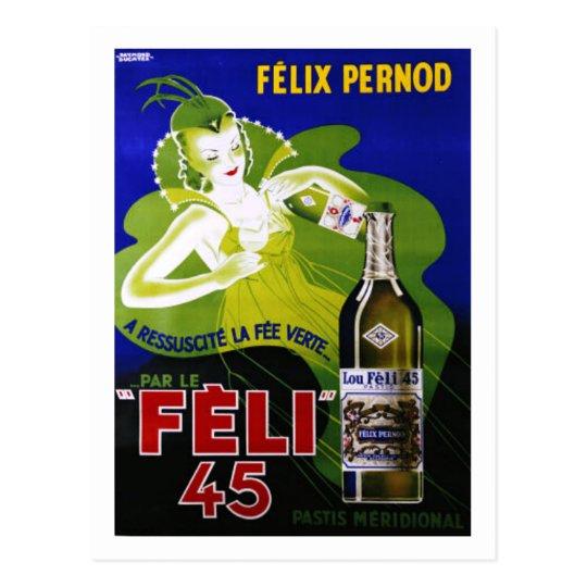 FELI 45 ABSINTHE POSTCARD