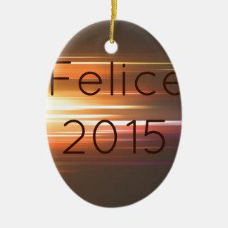 Felice 2015 ceramic ornament