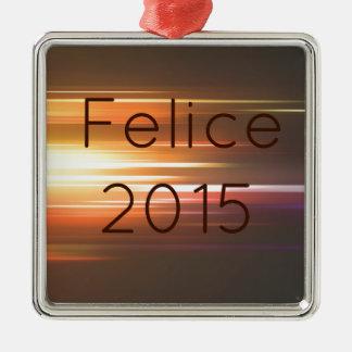 Felice 2015 metal ornament