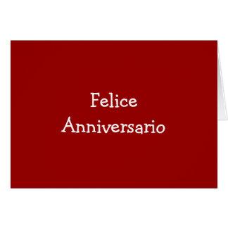 FELICE ANIVERSARIO-ANNIVERSARY TARJETA DE FELICITACIÓN