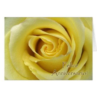 Felice Anniversario, aniversario de boda italiano Tarjeta De Felicitación