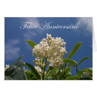 Felice Anniversario - aniversario feliz Tarjeta De Felicitación