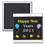 Felices Año Nuevo 2011 Imán Para Frigorífico