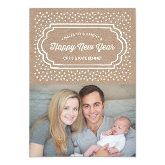 """Felices Año Nuevo brillantes y de tarjeta de la Invitación 5"""" X 7"""""""