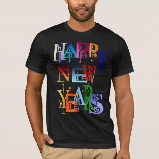 Felices Año Nuevo de camisetas