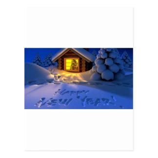 ¡Felices Año Nuevo de Eve Tarjeta Postal
