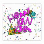 Felices Año Nuevo de LEET con confeti Escultura Fotográfica