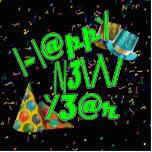 Felices Año Nuevo de LEET con confeti Esculturas Fotograficas