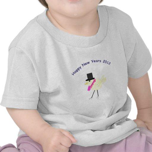 Felices Año Nuevo de polluelo 2012 con estilo Camisetas