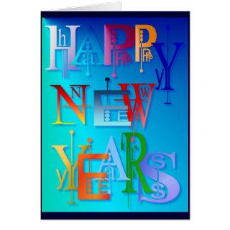 Felices Año Nuevo de tarjeta