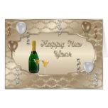 Felices Año Nuevo de tarjeta de felicitación