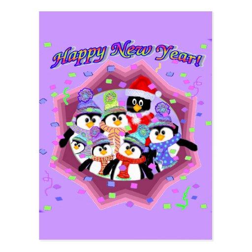 Felices Año Nuevo de tarjetas Tarjetas Postales