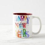 Felices Año Nuevo de tazas