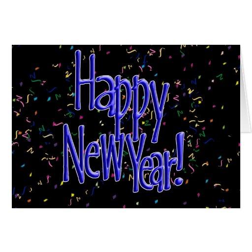 Felices Año Nuevo de texto del azul