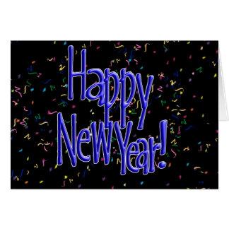 Felices Año Nuevo de texto del azul Tarjeta De Felicitación