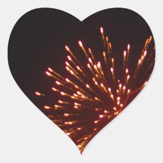 ¡Felices Año Nuevo! Pegatina En Forma De Corazón