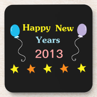 Felices Año Nuevo Posavasos De Bebida