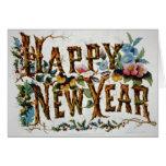 Felices Año Nuevo Tarjeton