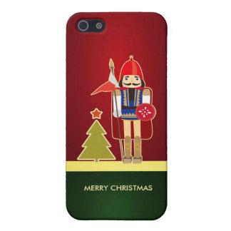 Felices árbol de navidad y cascanueces Solider iPhone 5 Funda