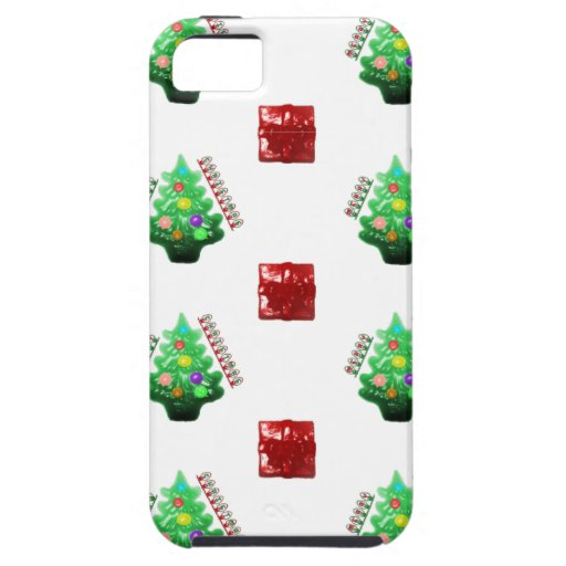 Felices árbol de navidad y regalo iPhone 5 fundas