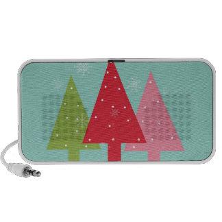 Felices árboles de navidad notebook altavoz