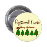 FELICES ÁRBOLES DE NAVIDAD de la enfermera registr Pin