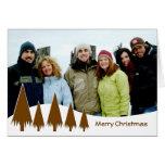 Felices árboles de navidad del chocolate tarjeta