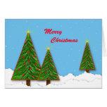 Felices árboles de navidad tarjeta