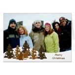 Felices árboles de navidad y dos Kittys Tarjetas