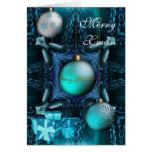 Felices bolas del azul del jade de Navidad de la t
