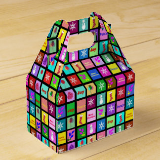 Felices cajas del favor de fiesta de Navidad Paquete De Regalo