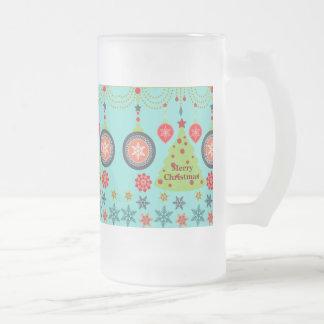 Felices copos de nieve del árbol de navidad del dí tazas de café
