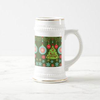 Felices copos de nieve del árbol de navidad del dí taza de café