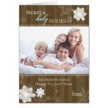 Felices días de fiesta santos PhotoCard doblado fa Felicitacion