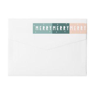 FELICES FELICES FELICES etiquetas de dirección de Etiquetas Postales