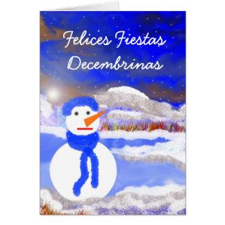 Felices fiestas decembrinas card
