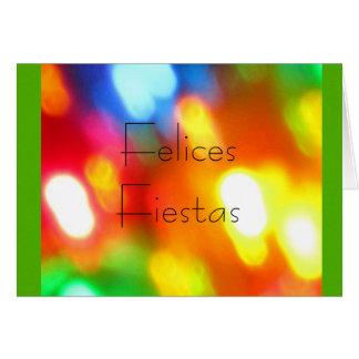 Felices Fiestas - Multicolor Card