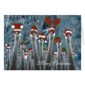 Felices grúas entre nosotros tarjeta de felicitación