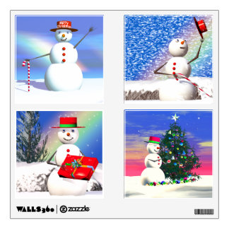 Felices muñecos de nieve del navidad 3D